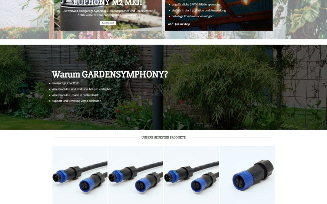 gardensymphony.ch im neuen Look